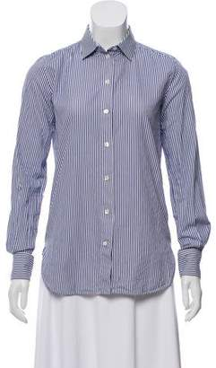 Celine Striped Button-Up Top