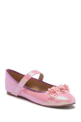 OLIVIA MILLER Glitter Flower Ballet Flat (Toddler & Little Kid)