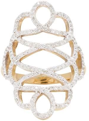 ADORNIA Fine Jewelry Women's 14K Yellow Gold Renaissance Diamond Ring