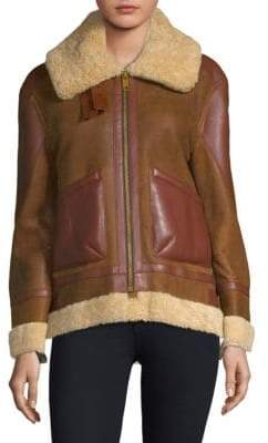 Burberry Shearling Leather Coat