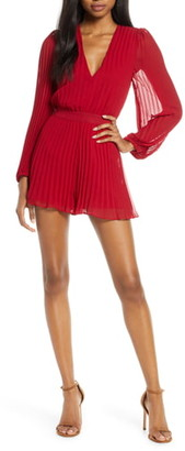 Ali & Jay Tower Bar Sunsets Long Sleeve Pleated Romper
