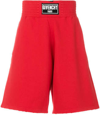 Givenchy logo patch destroyed Bermuda shorts