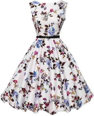 3.1 Phillip Lim GRACE KARIN Vintage Women's Cocktail Swing Party Dresses (2XL,Floral 23)