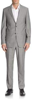 Michael Kors Regular-Fit Plaid Wool Suit
