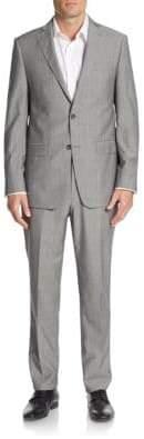 Michael Kors Regular-Fit Plaid Wool Suit
