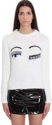 Chiara Ferragni Knitwear In White Wool