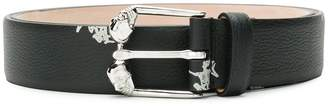 Alexander McQueen skeleton printed belt