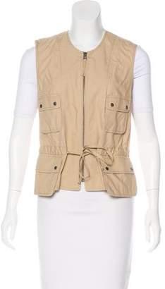 Calvin Klein Woven Zip-Up Vest