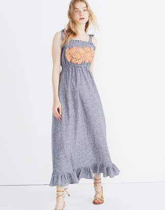 Madewell Innika Choo Daisy Embroidered Avens Midi Dress