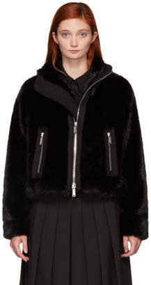 DSQUARED2 Black Faux-Fur Jacket