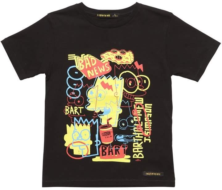 T-Shirt Aus Baumwolljersey Mit Pop Bart-Druck