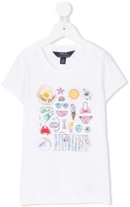 Ralph Lauren beach graphic T-shirt