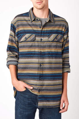 Patagonia Long Sleeve Ford Striped Flannel Button Down Shirt