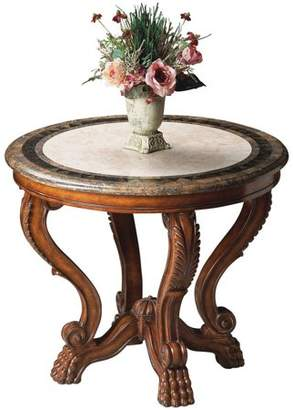Butler Specialty Company Butler Hucklebees Fossil Stone Inlay Foyer Table