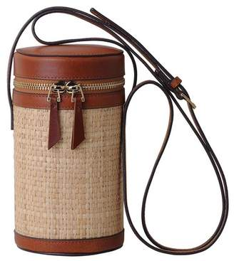 Most Wanted USA Woven Cylindrical Leather Trim Bag