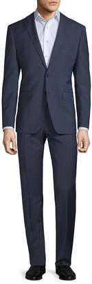 Calvin Klein Slim-Fit Mini Windowpane Wool Suit