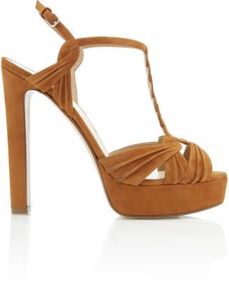 Francesco Russo Suede Platform Sandal