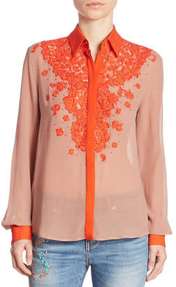 Roberto Cavalli Floral Blouse