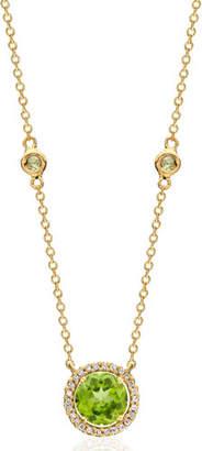 Kiki McDonough Grace 18k Gold Peridot & Diamond Pendant Necklace