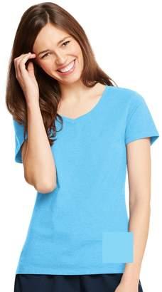 Hanes X-Temp Women`s V-Neck T-Shirt, 42V0, S