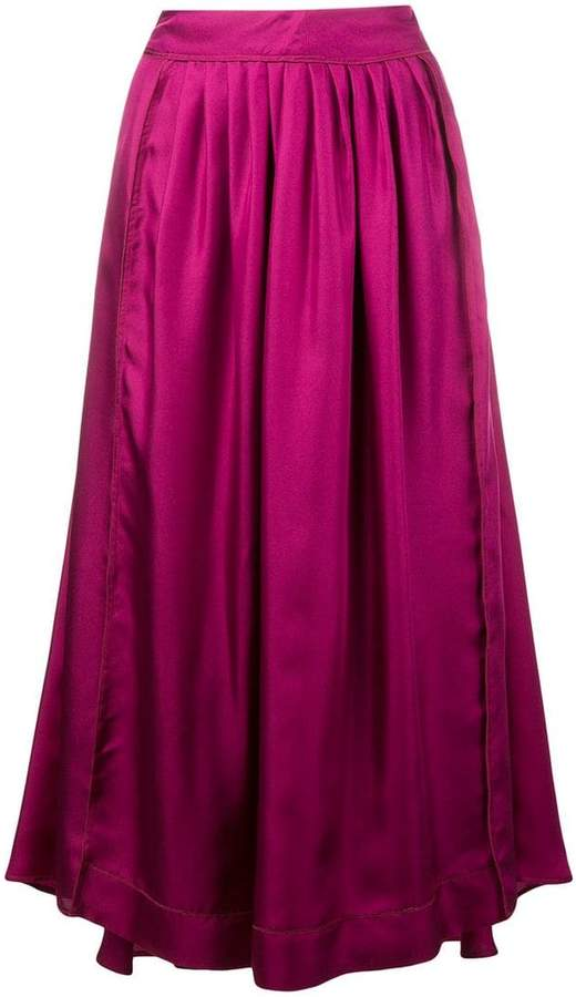 Alysi flared pleated skirt