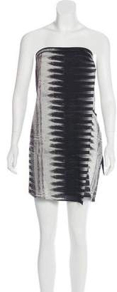 Helmut Lang Printed Strapless Dress