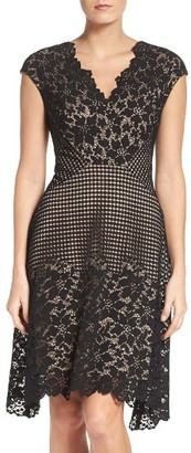 Women's Maggy London Lace Fit & Flare Dress $168 thestylecure.com