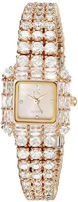 Adee Kaye Women's AK27N-LRG Glamour II Analog Display Quartz Rose Gold Watch