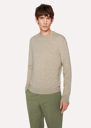 Paul Smith Men's Oatmeal Cashmere Sweater