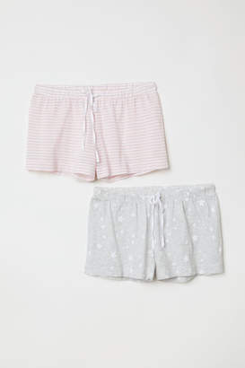 H&M 2-pack Pajama Shorts - Pink