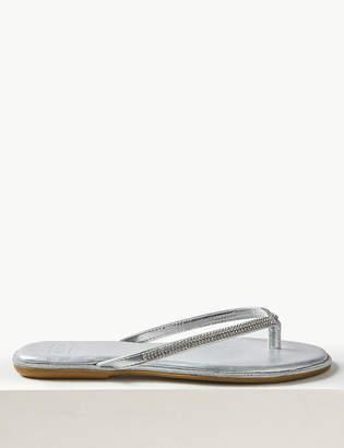cc8e29e450b8 M S CollectionMarks and Spencer Diamante Flip-flops Sandals