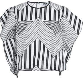 MSGM Striped Cotton-Poplin Top