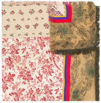 Pierre Louis Mascia Pierre-Louis Mascia printed patchwork scarf