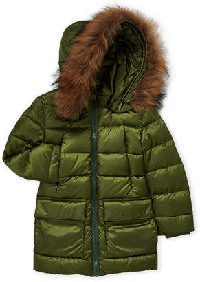 ADD Boys 8-20) Real Fur Trim Down Parka