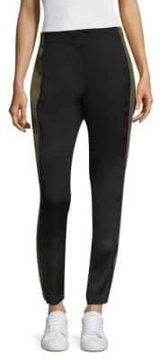 Public School Women's Lola Side Stripe Cropped Pants - Black - Size 4