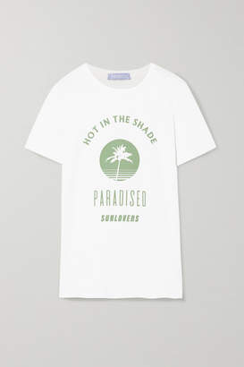 Paradised - Hot Shade Printed Cotton-jersey T-shirt - White