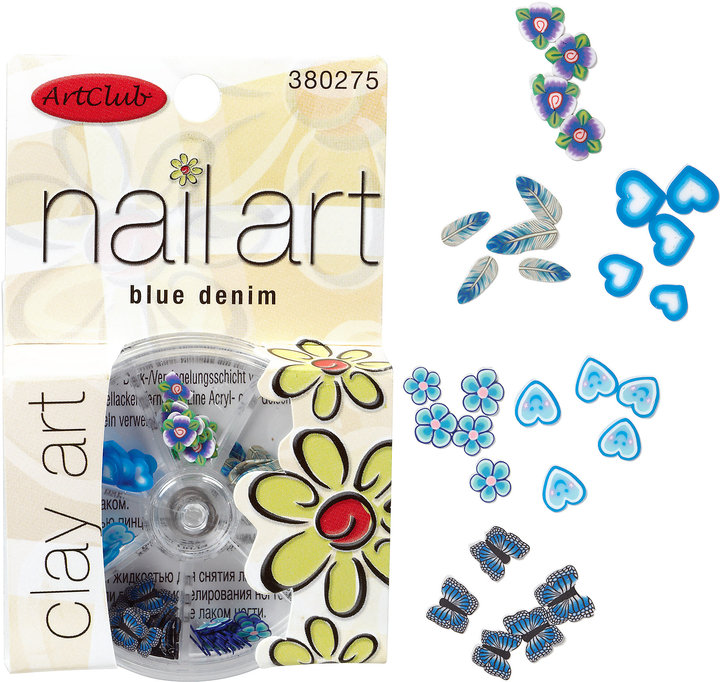 Sally Beauty Art Club Blue Denim Clay Nail Art