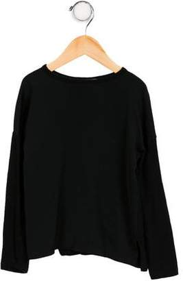 Vince Girls' Long Sleeve Wool-Blend Top