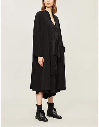 Y's Ys Relaxed-fit tie-up woven coat