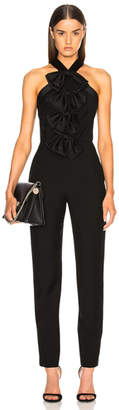 Givenchy Bow Front Cross Back Jumpsuit