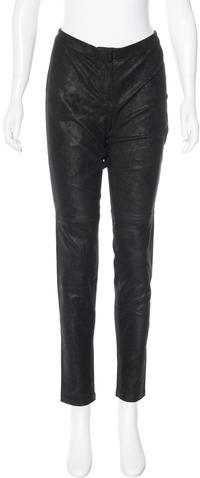 Theory Theory Straight-Leg Leather Leggings w/ Tags