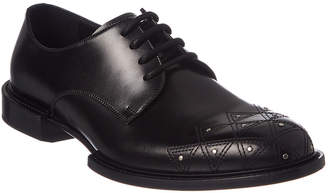 Versace Leather Derby Shoe