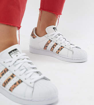 adidas Superstar Sneakers With Leopard Print Trim