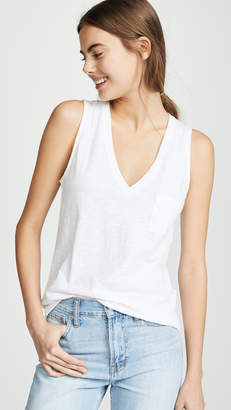 d5881da0ad1c4 Madewell Whisper Cotton V Neck Pocket Tank