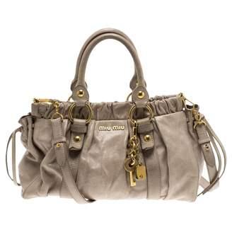 6c861238e417 Miu Miu Beige Leather Bags For Women - ShopStyle UK