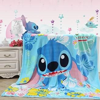 """Blaze Children's Cartoon Printing Blanket Coral Fleece Blanket 59 by 79"""" (Stitch)"""