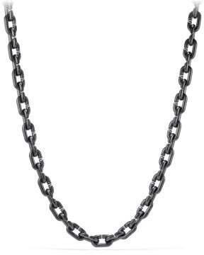 David Yurman Davidyurman Chain Link Bold Necklace With Black Titanium