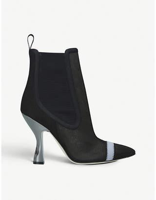 Fendi Colibrì mesh heeled ankle boots