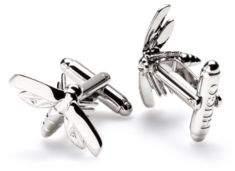 HUGO Boss Firefly cufflinks in polished metal One Size Silver