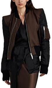 Taverniti So Ben Unravel Project Women's Wool-Blend & Silk Bomber Jacket - Brown
